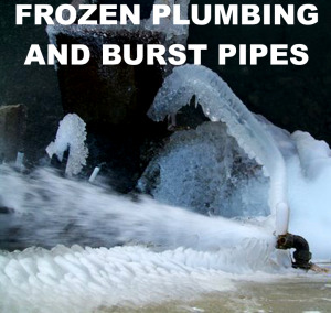 Pipes that are frozen in Knoxville Tennessee