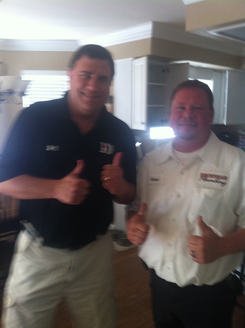 KNoxville happy plumber customer